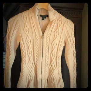 Ralph Lauren pastel pink cable sweater